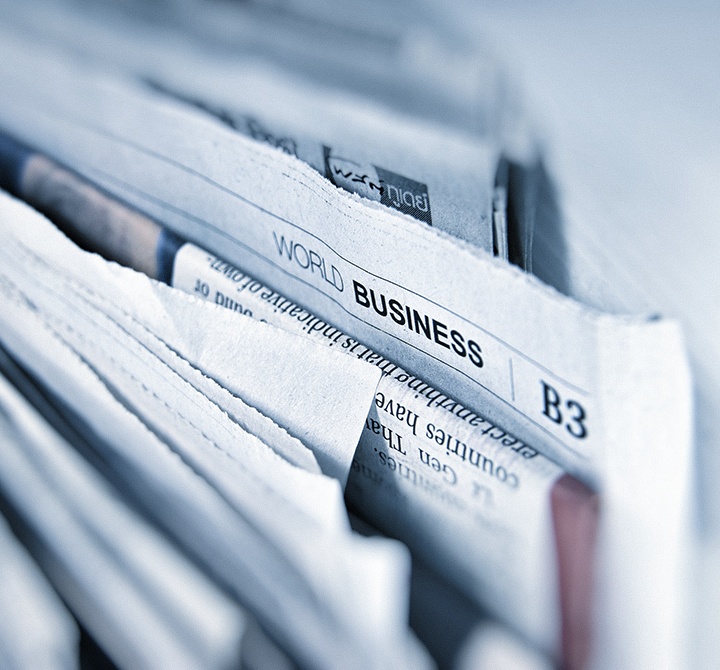 Picture Close Up of newspapers